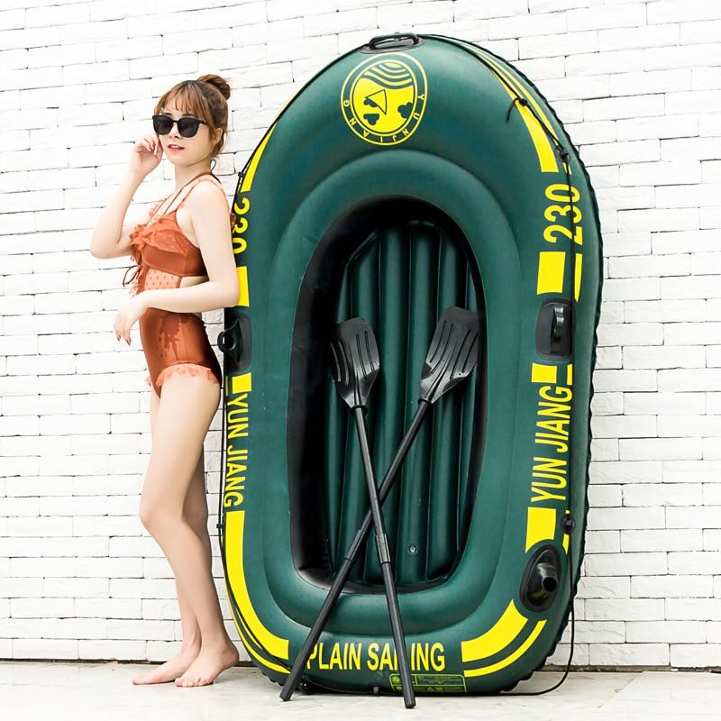 Nouveau bateau de pêche en caoutchouc de PVC de bateau gonflable d'épaissir de haute résistance avec des palettes pour le Kayak gonflable de l'eau de dérive adulte d'enfants