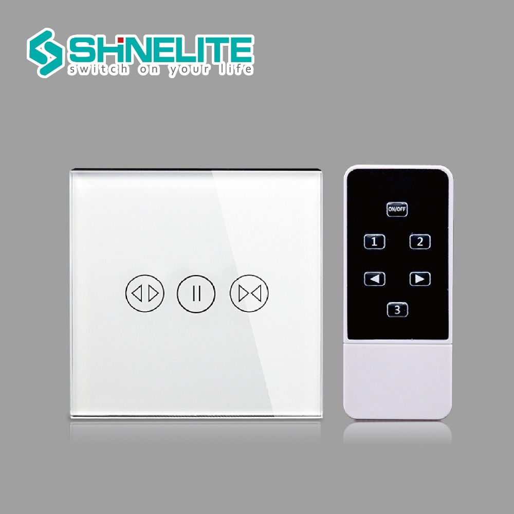 SHINELITE UK Standard 3 Mode Remote Control Fan Switch,Speed Regulation,White Crystal Glass Panel, AC 110~240V Home Wall Switch luxury uk standard wireless remote control for ceiling fan crystal glass panel 600w fan speed regulation wall touch switch