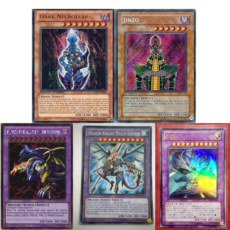 Yu Gi Oh Game Card Five Emperor Dragon / Five Dragons Chaos Magic Amitier FGD PGL2 Yugioh Game Card Collection