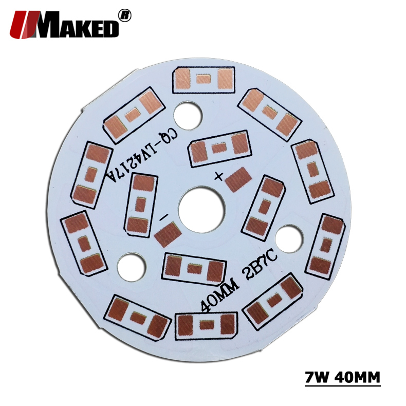 5/7W 40mm <font><b>LED</b></font> PCB Without SMD570 Installed Aluminun Lamp Plate 3/5/7/9/12/15/18/24/30/36W Light Panel for <font><b>LED</b></font> blub Downlight DIY image