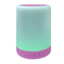 цена на YEINDBOO Mini Wireless Bluetooth Speaker Smart LED Bluetooth Music Speaker Audio TF Cart Slot FM Stereo Sound Luminous Speaker