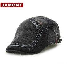 JAMONT  boinas informales sombrero hombres visores gorra de algodón  artista boina letras sombreros planos 46ac6ba4dcc