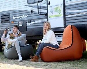 Image 3 - Indoor & Outdoor Hangout Opblaasbare Air Lounge Fauteuil Woonkamer Zitzak Ligstoel Camping Wandelen Vissen Stoelen Tuin Bank