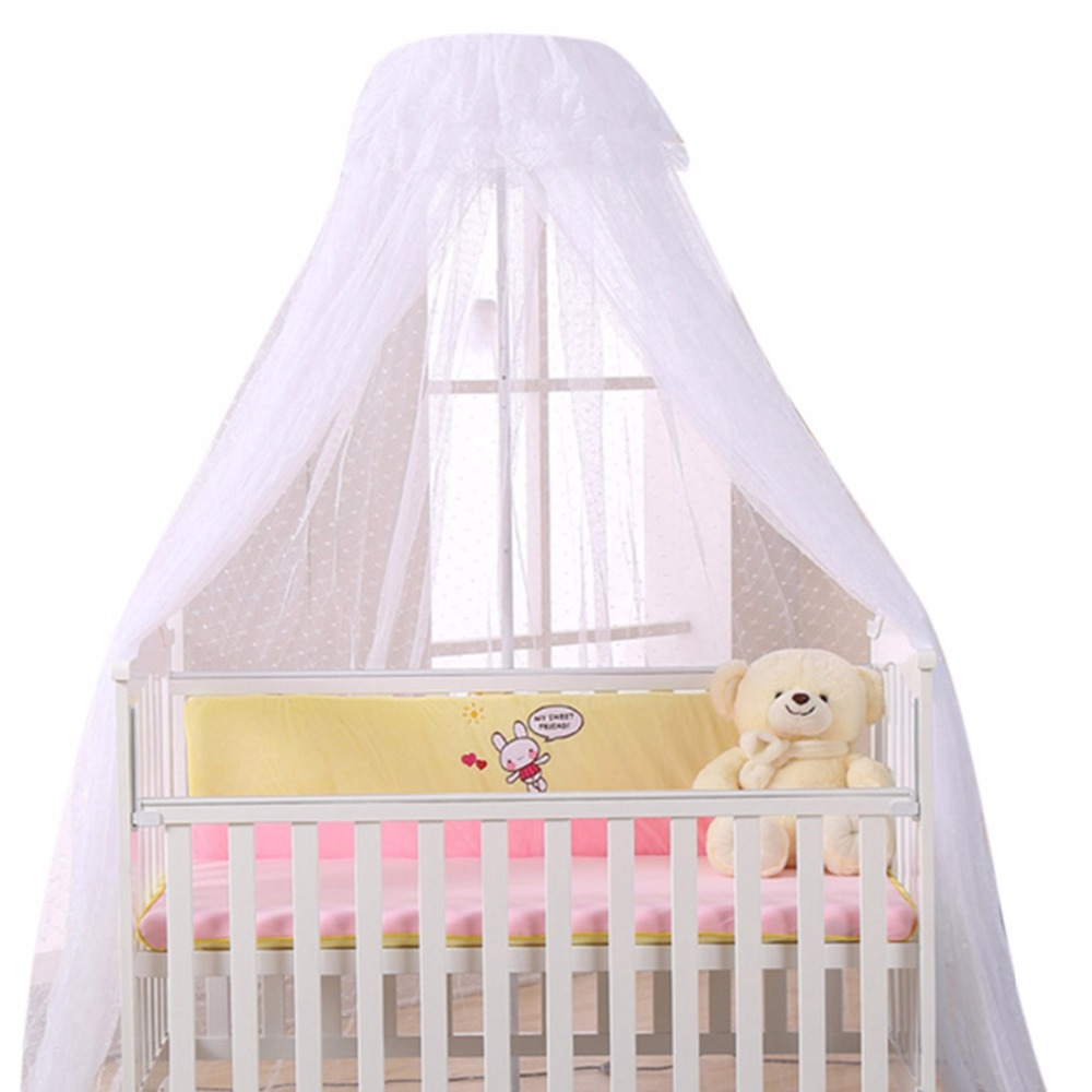 Baby Crib Netting Canopy Bed Mosquito Net Breathable Insect Mosquito Net for Baby Crib Bed Canopy Round Dome Mosquito Netting baby stroller pushchair mosquito insect shield net safe infants protection mesh stroller accessories mosquito net trq0085