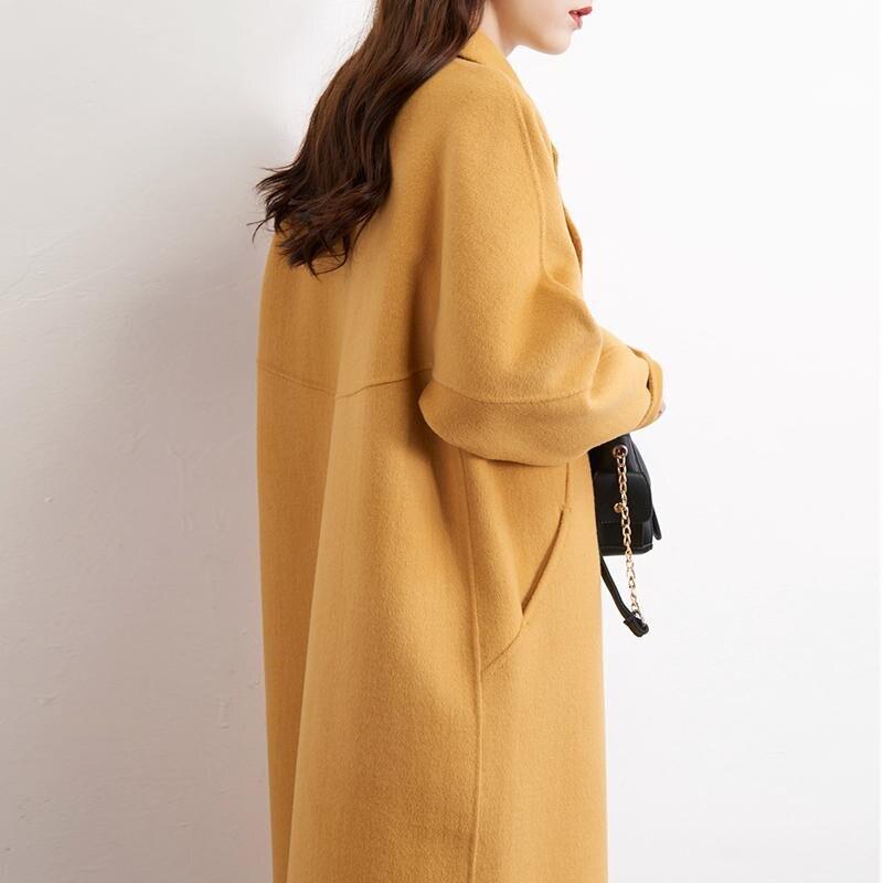 Cachemire Femelle Manteau Moutons Dames Outwear Jianghuangse Femmes D'hiver V340 Nouveau De Veste Manteaux Fourrure face Double 2018 Réel balck Laine 1Cv4qw
