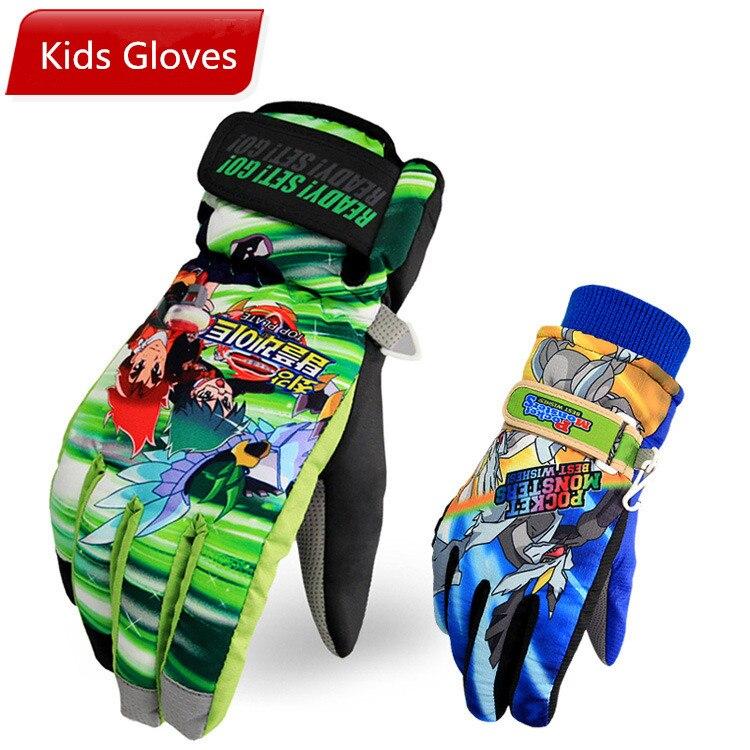 Prix pour Enfants Ski gants chauds enfants gants de Ski enfants cadeaux hiver Ski montagne des gants en plein air