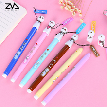 6pcs/lot Sunny baby fresh cute black pen creative gel students learning supplies for the signature free distribution