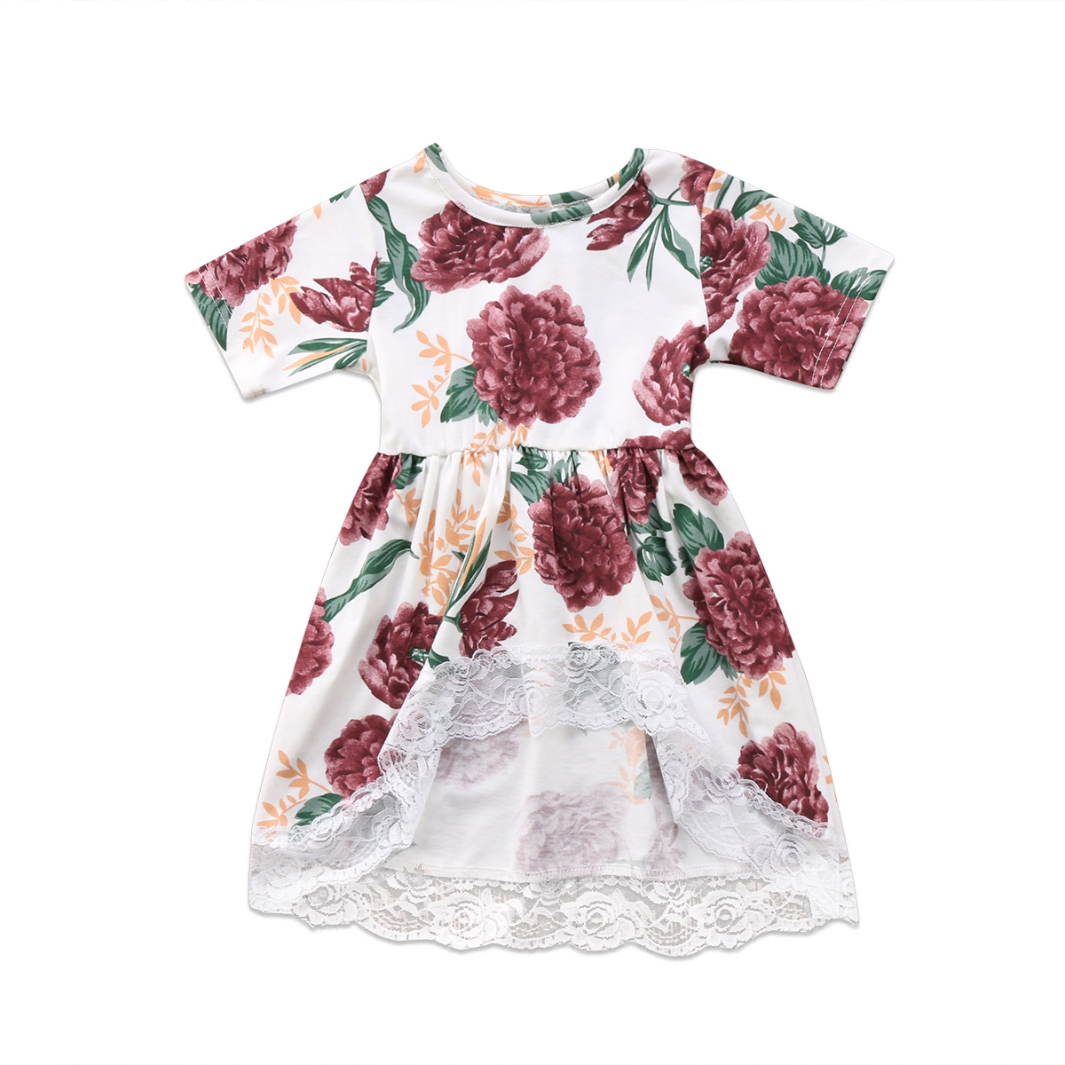 2018 New Newborn Kid Baby Girl Clothes Floral Lace Tail ...