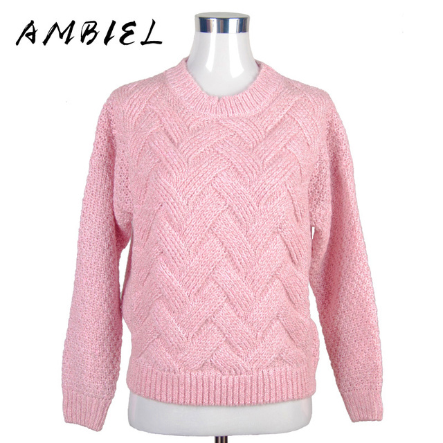 2016 Loose pullovers Sweaters Women's thicker section casual Long-sleeved Knit sweater Christmas Pull femme female slim Warm 329