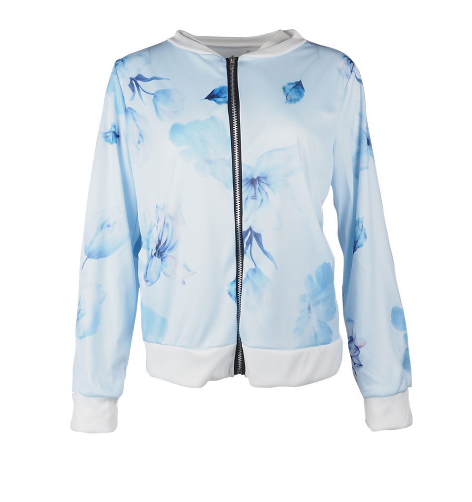 HTB1ehtPUbPpK1RjSZFFq6y5PpXau Plus Size Printed Bomber Jacket Women Pockets Zipper Long Sleeve Coat Female Flower Chiffon White Jacket Woman Spring 2019