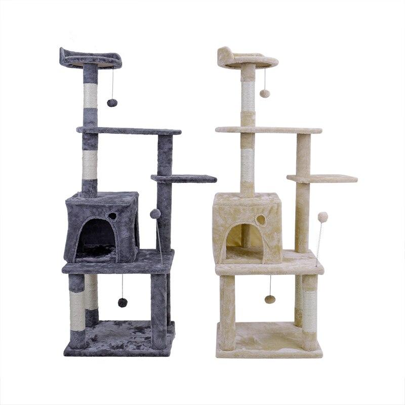 RU доставка в домашних условиях домик на дереве для кошки кошка дерево высокий Кот башня кровать с когтеточкой котенок игрушки Mascotas - 4