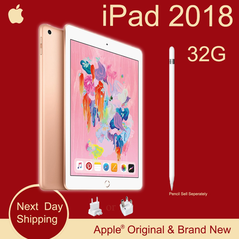 New Apple iPad 2018 (6th Generation) 32G 9.7 Retina Display A10 Fusion Chip Facetime 8MP Rear Camera  0.46kg Super Portable