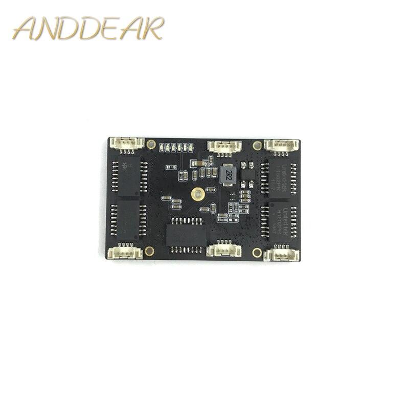 ANDDEAR Misura industriale 5 port 10/100 M rete ethernet switch non gestito interruttore 12 v pcba modulo switch di rete