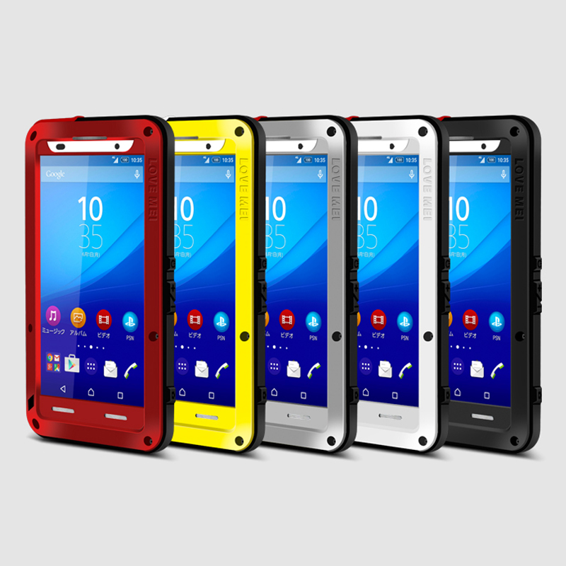 newest 92bb4 af798 US $34.4 |Z4/Z3 Plus Love Mei Armor Cover Waterproof Case for Sony Xperia  Z4 Fundas Shell Case Housing Water/Dirt/Shock/Rain Proof Capa-in Fitted ...