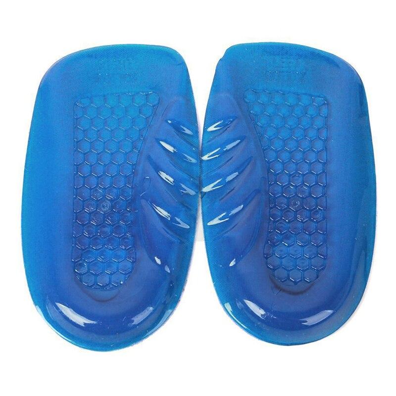 New Fashion Unisex Soft Rubber Gel Pain <font><b>Heel</b></font> Spur <font><b>Cup</b></font> Insoles Support Shoe Cushion Inserts Shoe-Pad Quality 1 Pair #FM0994