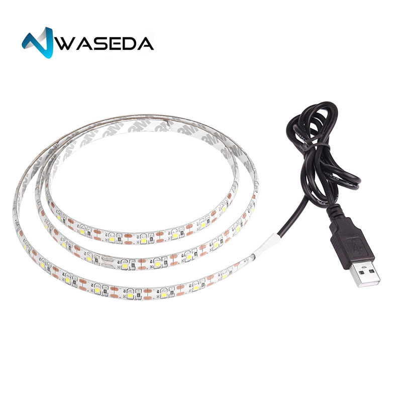 Waseda Luminoodle USB Bias Lighting 1m 6500K LED Backlight Strip Ambient Home Theater Light Accent Lighting to Reduce Eye Strain in LED Strips from Lights Lighting