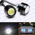 23mm 6 W 540-Lumen Carro Eagle Eye LED luzes Diurnas À Prova D' Água/luzes de Nevoeiro DC 12 V luzes de Freio Luz Da Cauda branca verde vermelho