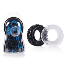 2 Pcs/Set Silicone Tire Penis Ring Delayed Ejaculation Cock Rings Sex Cockring Adult Products for Male