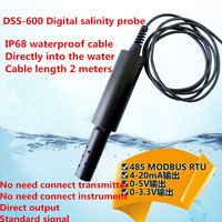 Ip68 2メートルDSS-600デジタル塩分プローブオンライン塩分センサー塩分電極MODBUS485/4-20ma/0-5ボルト塩分プローブ海