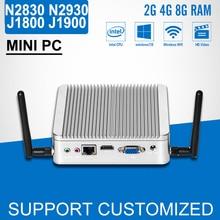 Без вентилятора мини настольных ПК Планшеты компьютер Celeron J1800 N2840 N2830 DDR3 Оперативная память 8 г, SSD Дополнительно портативных ПК Окна 7/8. 1