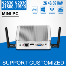 Fanless MINI PC desktop Computer celeron J1800 N2840 N2830 DDR3 RAM 8G SSD Optional J1900 N2930 PC Windows 7/8.1/10(China)