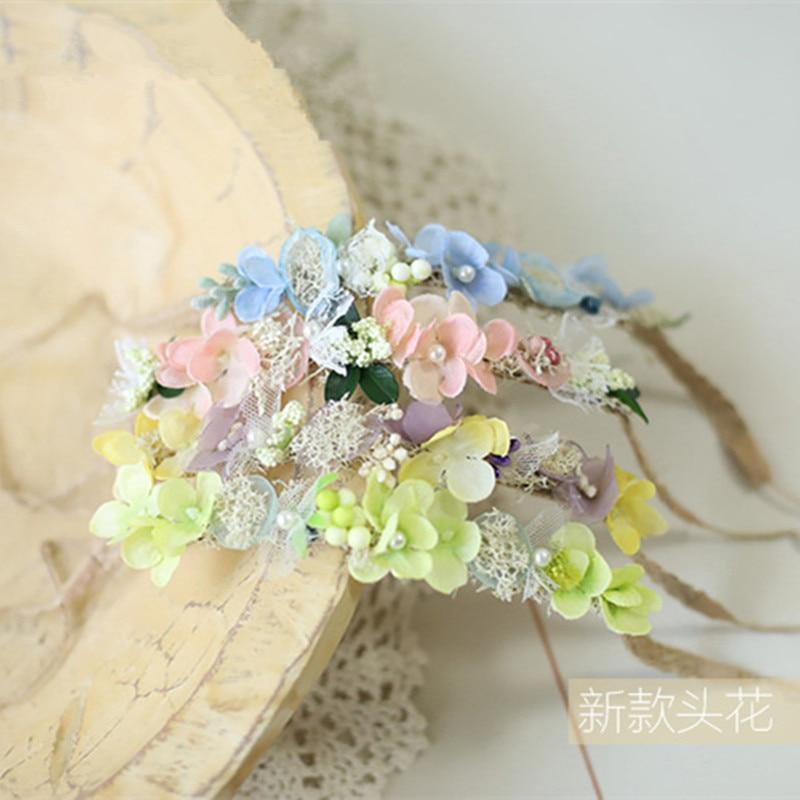 Newborn Baby Headbands Girl Flower Princess Headwear Photo Shooting Accessory Newborn Photography Props