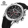 OCHSTIN Мужские кварцевые часы с хронографом спортивные наручные часы для мужчин Дата часы удобные силиконовые ремешки Relogio Masculino