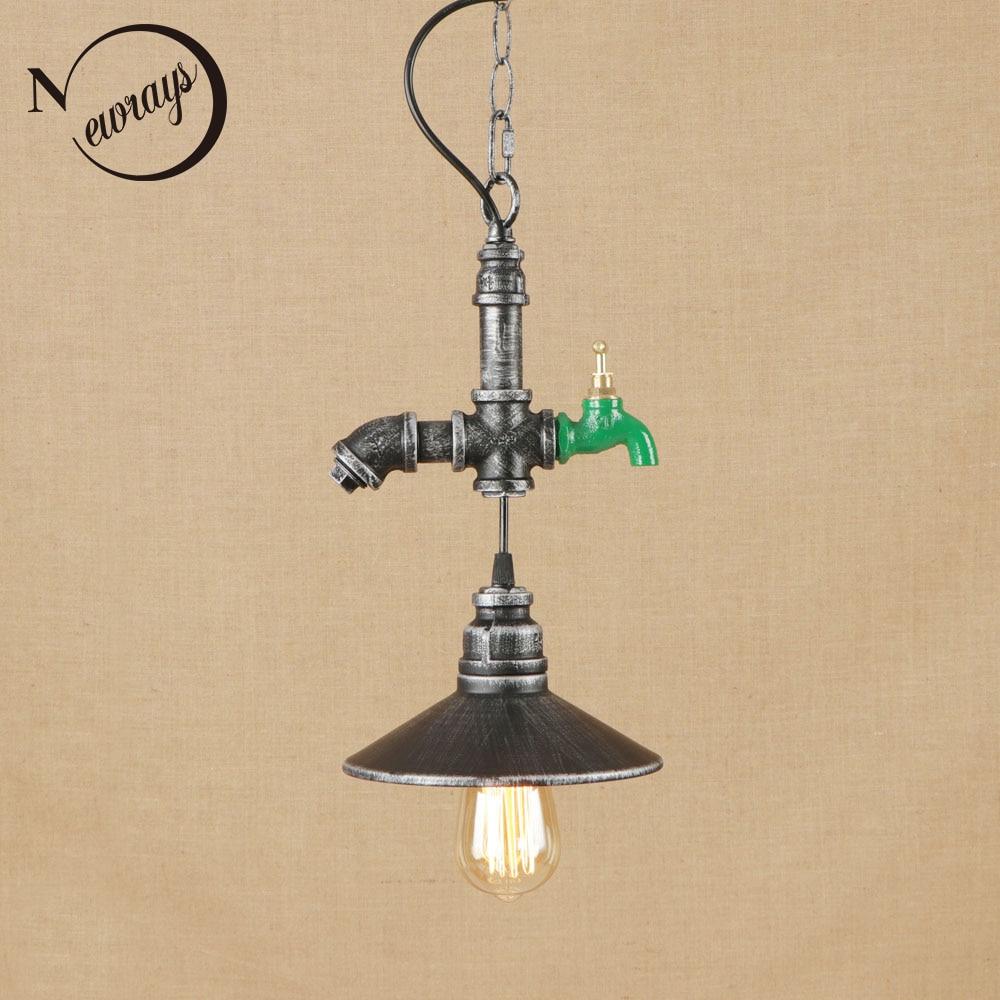 Vintage iron painted chrome rust hanging lamp LED lamp Pendant Light Fixture E27 110V 220V For Kitchen Lights decor dining room