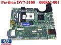 Nueva notebook placa base original del ordenador portátil placa madre 600862-001 580973-001 para hp pavilion dv7 dv7t dv7t-3100 90 días de garantía