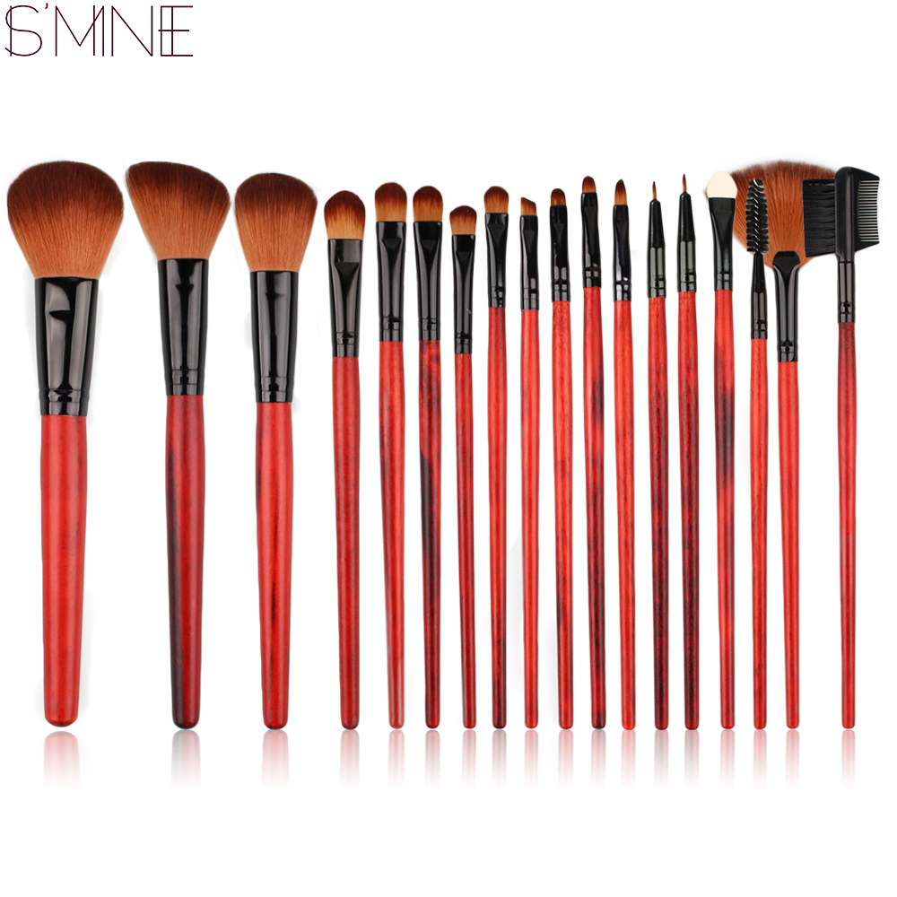 ISMINE 18 Pcs Makeup Brushes Set Professional Cosmetics Make Up Brush Tools Foundation Powder Blush Kit with Leopard Color Bag 147 pcs portable professional watch repair tool kit set solid hammer spring bar remover watchmaker tools watch adjustment