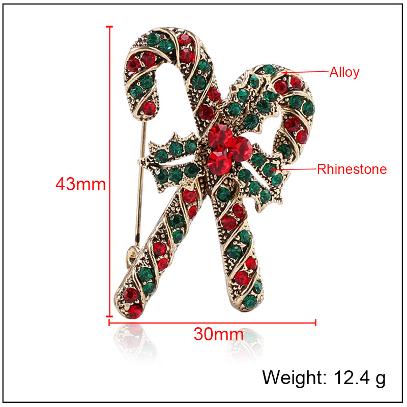 CINDY XIANG Cute Rhinestone Crutch Brooches For Women Creativity New Year 39 s Clothing Accessories Christmas Gift Pins Jewelry in Brooches from Jewelry amp Accessories