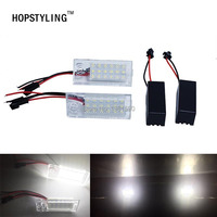Hopstling 2x Error Free 18 SMD LED License Plate Lights For Audi A6 C5 4B Sedan
