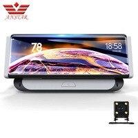 ANSTAR 8 4G android автомобильный камера видеорегистратор Wi Fi gps Full HD 1080p видео Регистраторы Двойной объектив регистратор регистраторы Bluetooth ADAS прот