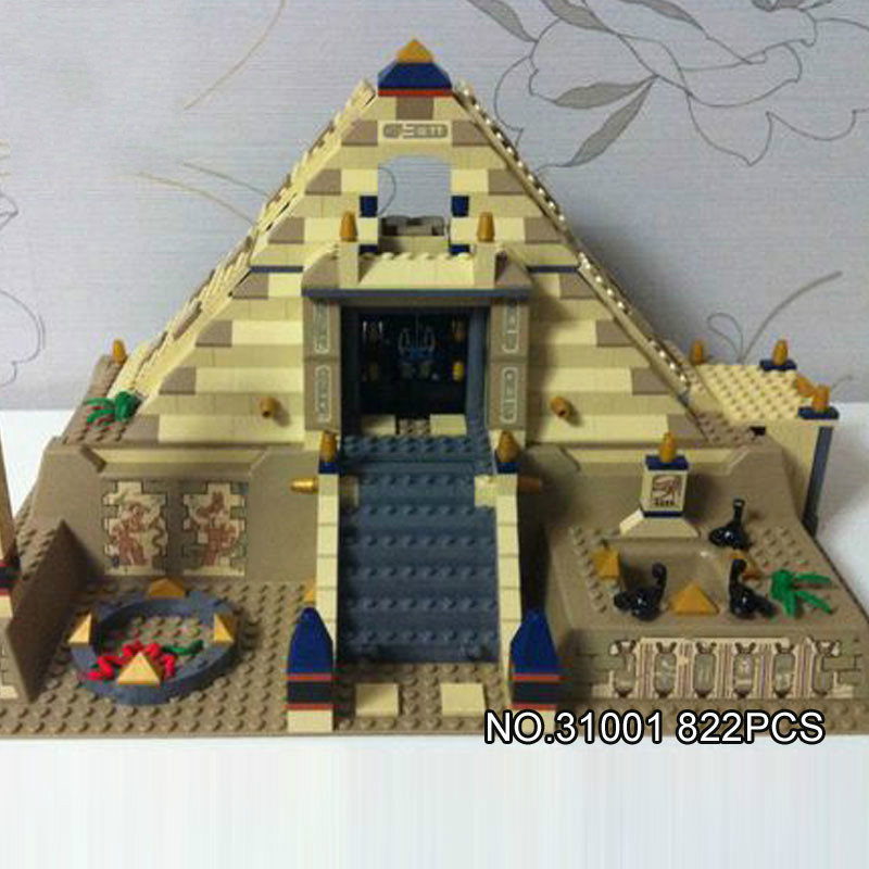 Lepin 31001 822Pcs Egypt Pharaoh Series The Scorpion Pyramid Children Educational Building Blocks Bricks Toys Model Gifts 7327 the red pyramid