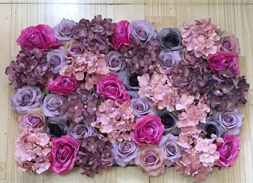 Buatan Dinding Bunga Mawar Palsu Sutra Latar Belakang Pernikahan Rumput Pilar Peta Memimpin Pasar Dekorasi Silk Roses Artificial Flowers Wallrose Wedding Aliexpress