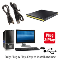 External Slim USB 3 0 DVD RW DVD ROM CD RW DVD RW Read Writer Burner
