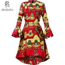 African Dresses for women Fashion Elegant Dress Ankara Printing Batiks Women Long Sleeve