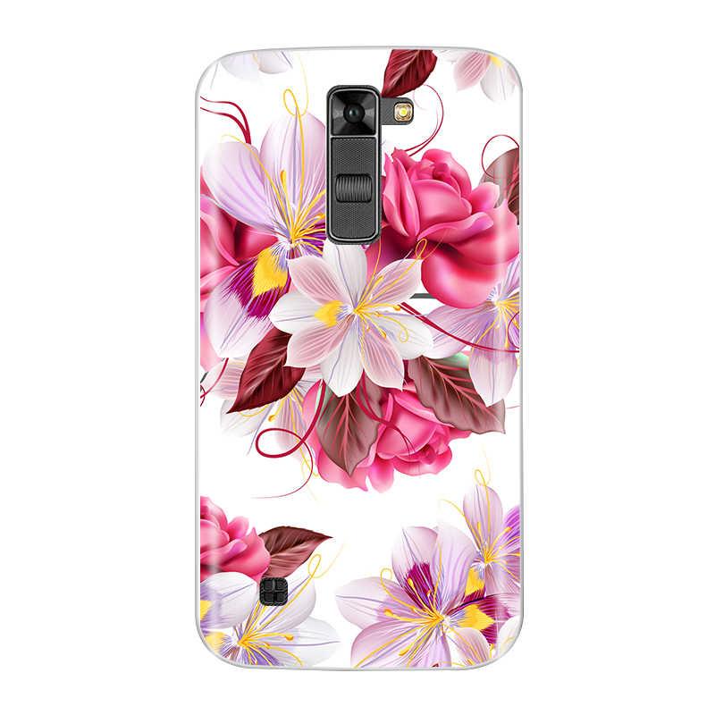 Ponsel Case untuk LG K7 X210 X210DS Uni Eropa Versi TPU Silikon Lembut Fashion Pola Dicat Kembali Cover Untuk LG K7 kasus
