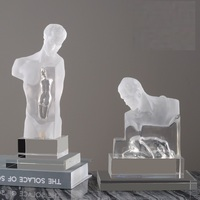 Creative Thinker Body Art Sculpture Figure Figures Statue Crystal Resin Home Decoration Crafts Room R636