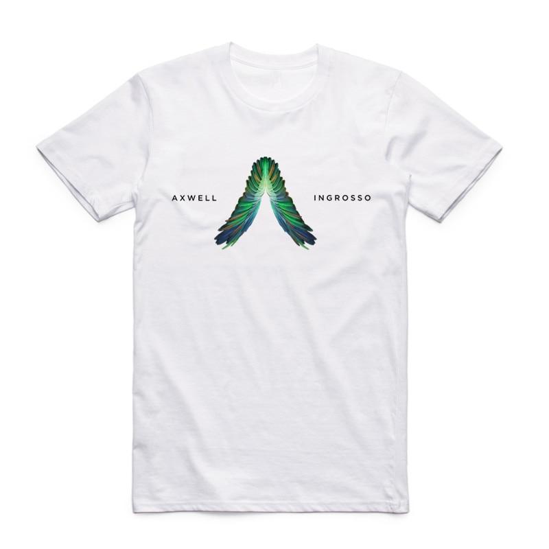 Men Axwell Ingrosso Print Retro DJ Fashion White T Shirt Summer O Neck Short Sleeve Casual Streetwear Funny T-shirt