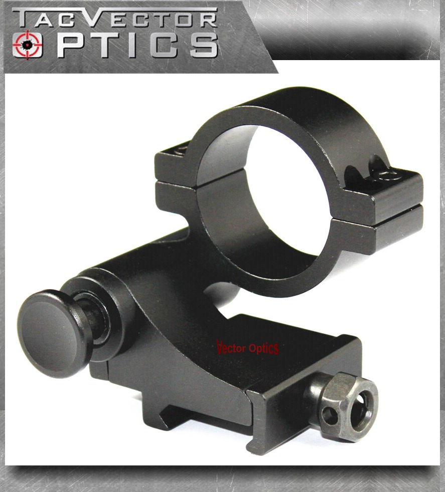 Vector Optics 30mm Flip To Side Scope QD Mount For Magnifier Picatinny Weaver Ring 20mm Rail fit Holo Sights Hunting Accessories tactical quick release scope ring mount 25mm 30mm dual ring qd auto lock picatinny weaver 20mm rail for rifle shotgun