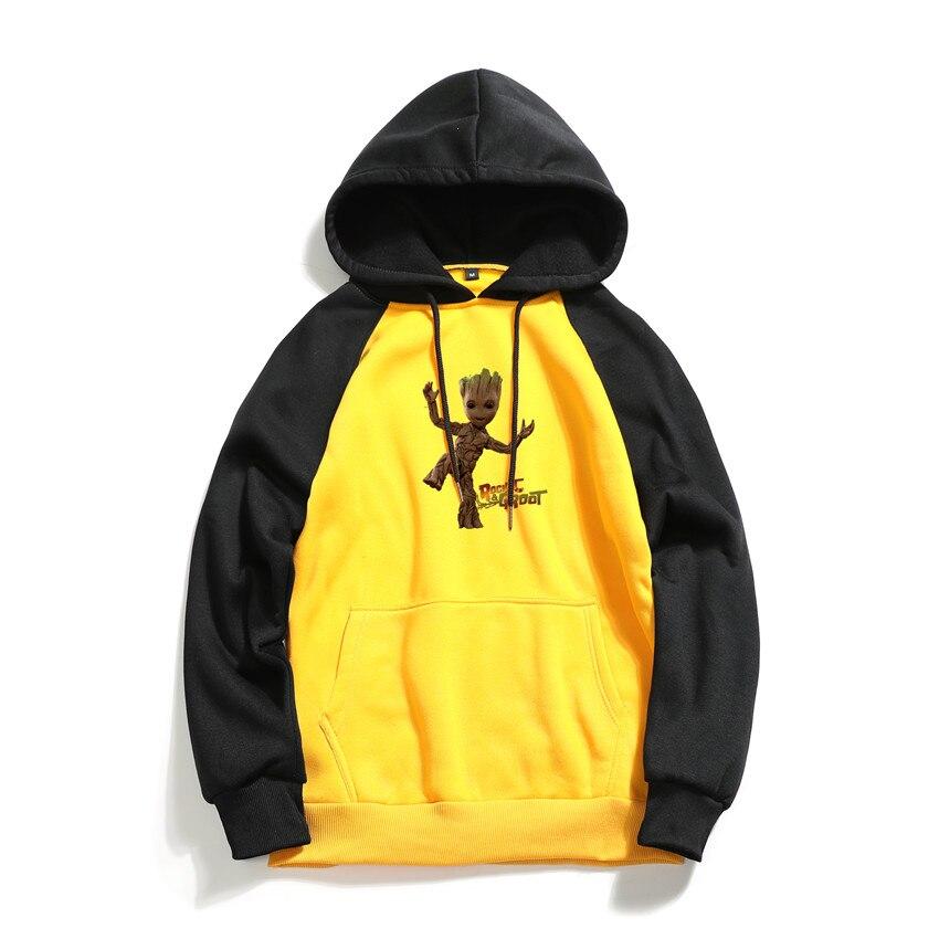 Hoodies Sweatshirts Hooded-Printing Slim-Fit Streetwear Hip-Hop M-3XL Casual Men Brand