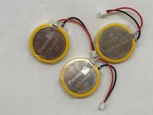 5pcs/lot New Genuine Panasonic CR2450 battery with solder pin plug wire bonders CR 2450 3V AFPX-BATT FP-X Series PLC Batteries цена