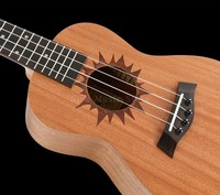 23 inch 4 Aquila Strings Mini Acoustic Guitar Concert Lady Small Guitar With Sun Decal Hawaii Four Strings Electric Ukelele