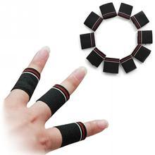 10 шт., спортивные накладки на палец, защитные полосы, защита для пальцев, поддержка, эластичная спортивная повязка, баскетбольная