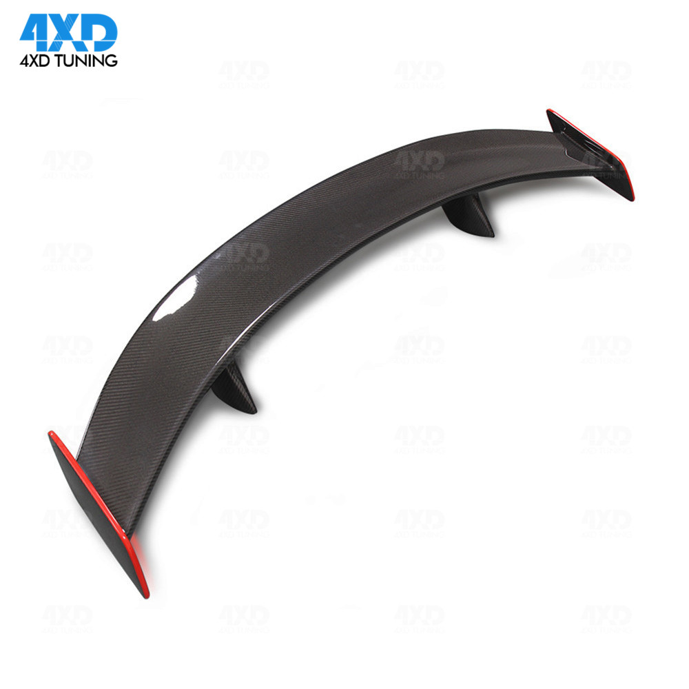 For Mercedes CLA45 W117 Carbon Spoiler With Red Line GT Style AMG Rear Spoiler Trunk Wing 2013 2014 2015 2016 2017 2018 2019