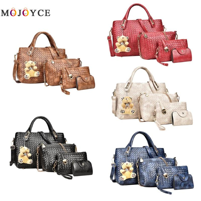 2017 Women Bags Set Leather Handbag Women Casual Travel Bags Ladies Brand D..