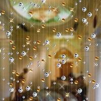 8 m Cristal perle rideau décoration de la maison Intérieure partition rénovation de mode de Fête de mariage décoration rideaux