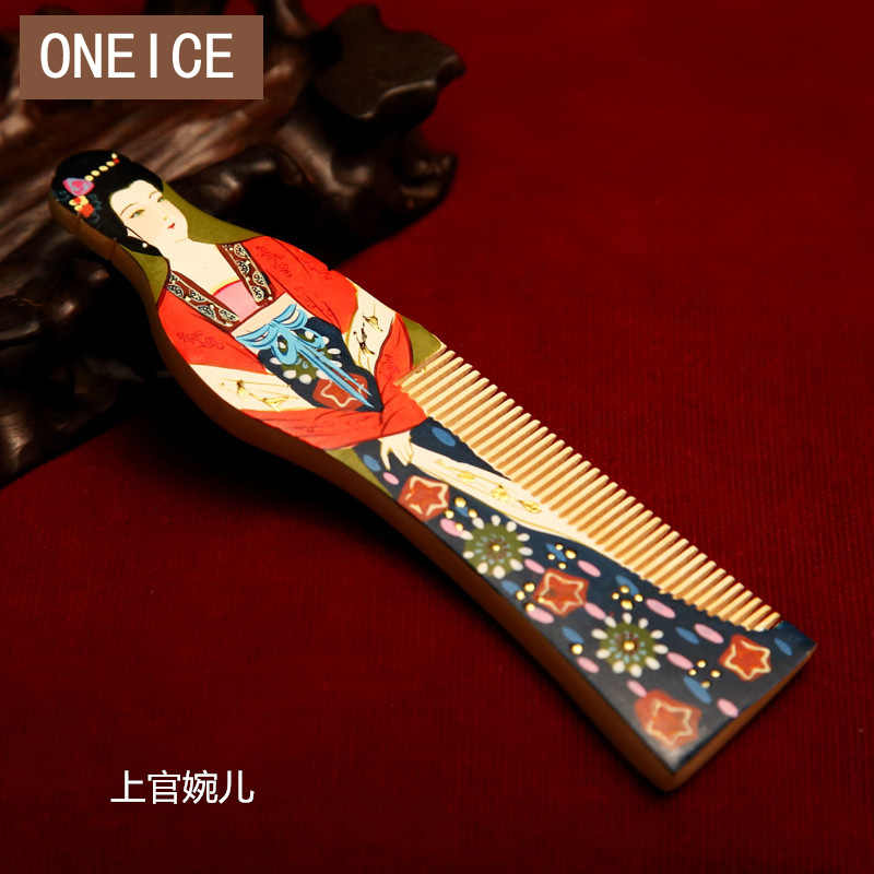 ONEICE Shangguan Changzhou Natural Comb Specialty Ethnic Handicrafts Craft Wood  Combs Four Talented Woman Wedding Decoration