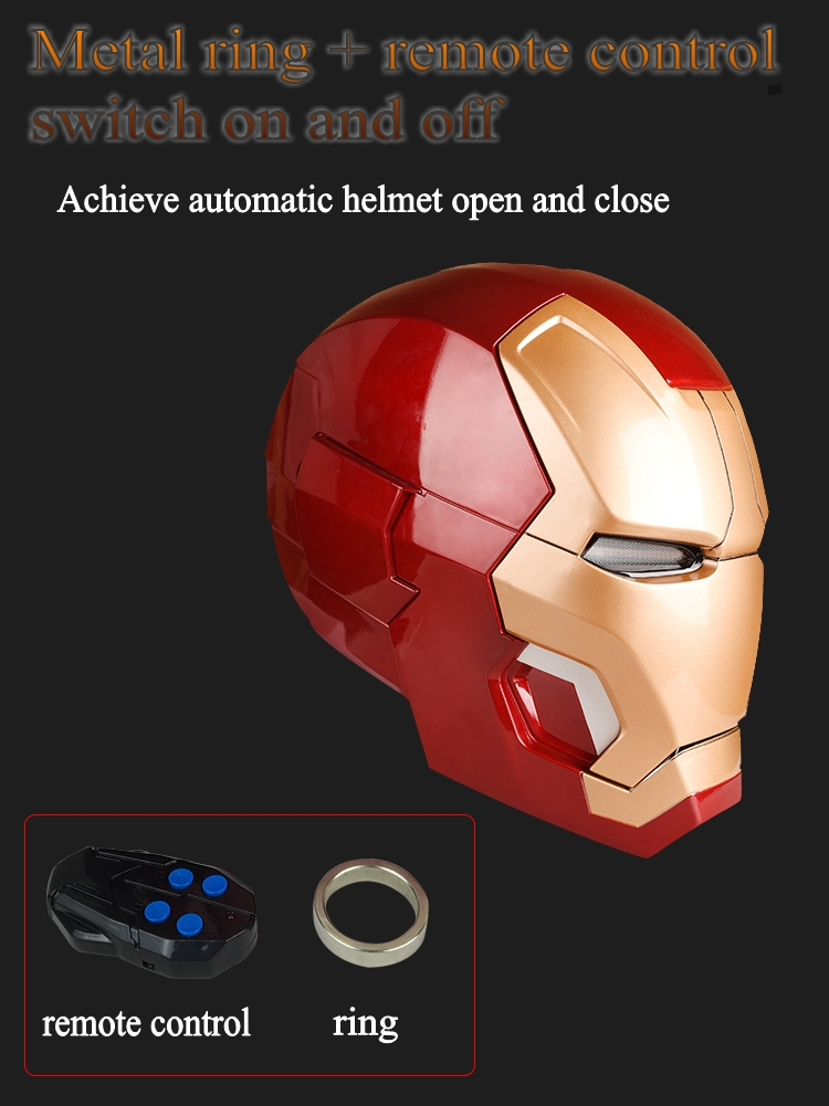 Avengers 4 1:1 Halloween Party zeer hoge kwaliteit Iron man masker mk42 helm wearable model touch elektrische open masker marvel - 5